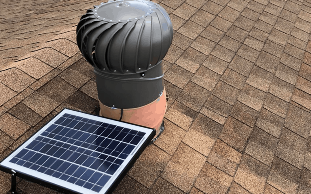Whirly Bird installation - iSolar Solutions attic vent powered by solar panels