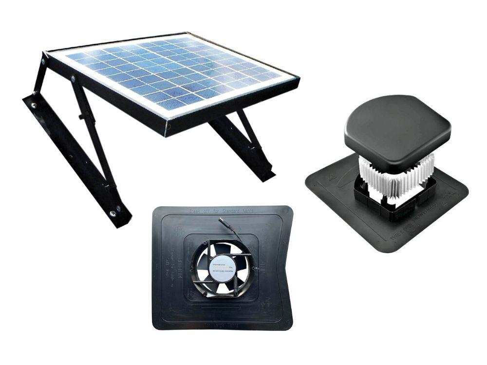 19W-MOD-SNV Modular Solar Powered Ventilation Fan with SNOWVENTCO Smart Filter Ven